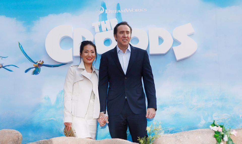 Nicolas Cage und seine Frau Alice Kim
