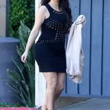 Gewagtere Minikleidchen wie dieses nietenbesetzte kleine Schwarze wird Kim sicher nicht mehr all zu lange tragen.