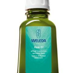 """Naturfreund Pflegt empfindliche Kopfhaut mit Pflanzenöl und Auszügen aus Kleeblüten: das """"Haaröl"""" von Weleda, 50 ml, ca. 9 Euro"""