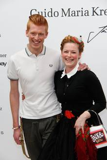 Enie van de Meiklokjes mit ihrem Partner Tobias Staerbo