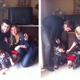 26. Dezember 2013  Die Familie ist zu Besuch bei Milans Großmutter und macht schnell ein Foto für Instagram.