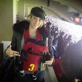10. Fenruar 2013  Auf geht's zum Fußball - für Baby Milan ist es der erste Besuch bei Papa im Stadion.