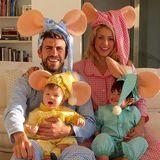 """1. November 2015  Shakira und ihre Liebsten verwandeln sich in """"Topo Gigio – Die Weltraum-Maus"""". Wir finden die Familie einfach zum Anbeißen."""