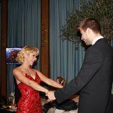"""10. Januar 2012  Verliebt wie am ersten Tag: Shakira begleitet ihren Fußballer zur """"Ballon d'Or""""-Zeremonie nach Zürich."""