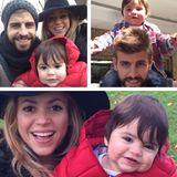17. November 2013  Ganz schön groß geworden der Kleine: Gerard Piqué, Shakira und Milan machen einen Herbstspaziergang.