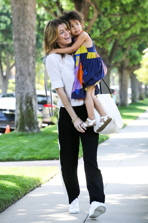 Ellen Pompeo mit ihrer Tochter Stella Luna.