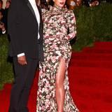 Kanye West mit Kim Kardashian in Riccardo Tisci