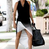 Der moderne Schwarz-Weiß-Look von Halle Berry sieht nicht nur in der Schwangerschaft super aus.