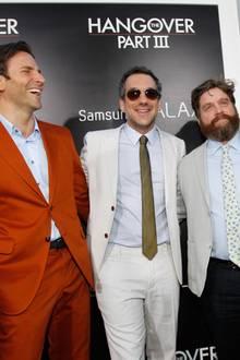 Bradley Cooper, Regisseur Todd Phillips, Zach Galifianakis und Ed Helms