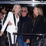 Sharon Stone mit Gastgeber Roberto Cavalli