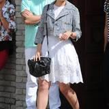 """Auch """"Glee""""-Darstellerin Dianna Agron verbringt den Memorial Day bei Joel Silver."""