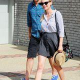 Joshua Jackson und Diane Kruger machen sich bestens gelaunt und luftig gekleidet auf den Weg zur Party.