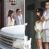 Kate Beckinsale, Tochter Lily Mo Sheen und Len Wiseman genießen den sonnigen Tag.