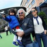 Ebenso Flavio Briatore, der mit seiner Frau Elisabetta und Sohn Nathan zum Grand Prinx gekommen ist.