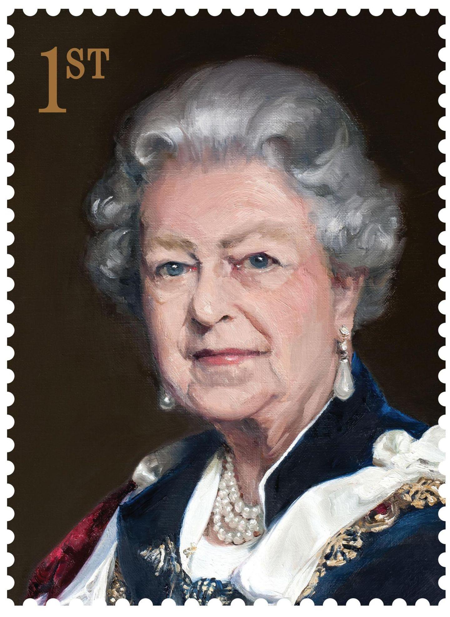 """Dieses Motiv zeigt das 2012 im Auftrag der """"Royal Mail"""" gemalte Queen-Porträt der Künstlerin Nicky Philipps."""