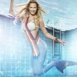 """Und auch die amtierende """"Miss Germany"""" Caroline Noeding will zeigen, was sie im Wasser drauf hat."""