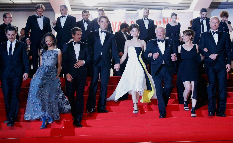 """Marion Cotillard und die restlichen Darsteller feiern die Premiere ihres Films """"Blood Ties""""."""