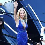 Sharon Stone ist zu Gast auf der Yacht von Roberto Cavalli.