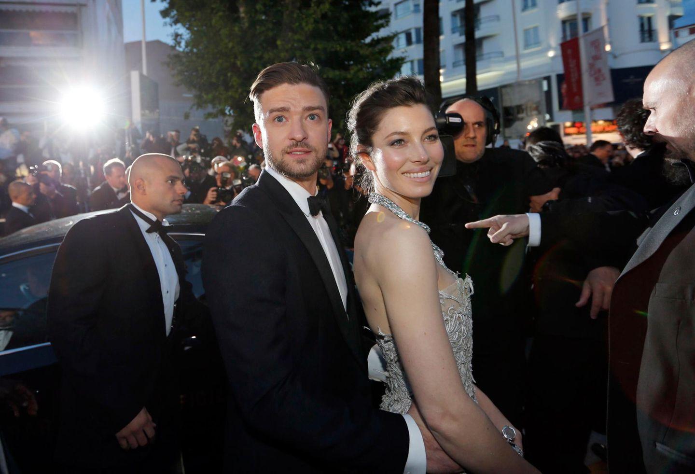 """Justin Timberlake und Jessica Biel haben sich """"Inside Llewyn Davis"""" angesehen. Timberlake spielt in dem Film """"Jim Berkey""""."""