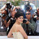 Audrey Tautou bezaubert die Fotografen mit ihrem Lächeln.