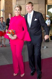 Am Abend besuchen Máxima und Willem-Alexander das Mercedes Benz Museum in Stuttgart.