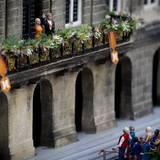 König Willem-Alexander und Königin Maxima werden den Menschen nach der Abdankung vom Balkon winken - so wie hier als Puppen im Freizeitpark Madurodam in Den Haag.