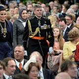 Mozah bint Nasser Al Missned, die zweite Ehefrau des Emirs von Katar, gehört zu den Gästen in der Nieuwe Kerk.