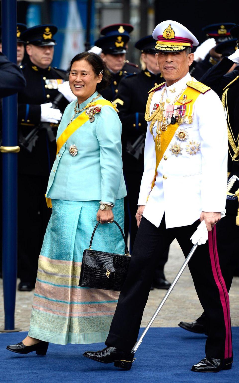 Prinz Maha Vajiralongkorn und Prinzessin Maha Chakri Sirindhorn aus Thailand