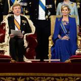 Seine Antrittsreder verliest König Willem-Alexander im Sitzen. Königin Máxima dürfte ihren Inhalt schon lange kennen. In einem Interview hatte Willem-Alexander nämlich verraten, dass er diesen Teil der Zeremonie schon länger geprobt hatte.