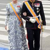 Prinzessin Mette-Marit und Prinz Haakon von Norwegen auf dem Weg in die Kirche.