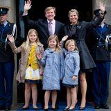 Einen Tag zuvor probt die Königsfamilie den Ablauf der Amtseinführung.
