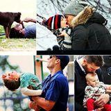 """""""Danke, dass du der liebevollste Vater der Welt bist. Fröhlichen Vatertag"""", gratuliert Gisele Bundchen ihrem Ehemann Tom Brady über Twitter und teilt diese süßen Bilder mit ihren Fans."""