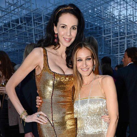 Kein Problem mit Größenunterschieden: Designerin L'Wren Scott und Jessica Parker