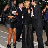 Genug Zeit für einen Plausch: Naomi Campbell und Kate Moss vor der Serpentine Gallery