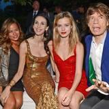 Jaggers reunited: Fast die gesamte Familie ist in der Serpentine Gallery versammelt: Jade, L'Wren Scott, Georgia May und Mick Jagger.
