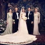 Prinzessin Madeleine und Chris O'Neill mit ihren Eltern Königin Silvia, König Carl Gustaf und Eva O'Neill
