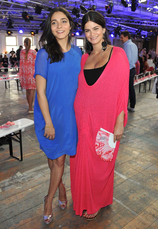 Pegah Ferydoni und die hochschwangere Shermine Sharivar sind bei Lala Berlin mit dabei.