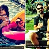 Katherine Heigl und Josh Kelley planschen mit Naleigh und Adelaide im Pool und genießen das herrliche Wetter.