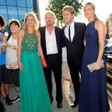 Holly, Richard, Sam und Claire Branson