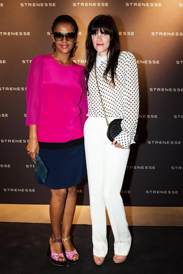 """Das Label """"Strenesse"""" präsentiert im Rahmen der Mercedes-Benz Fashion Week Berlin seine neue Frühjahr/Sommer 2014 Kollektion. Dennenesch Zoudé und Fritzi Haberlandt besuchten die Veranstaltung."""