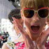 So eine Fashion Week ist aufregend - auch für die Models.