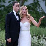 Jimmy Kimmel und Molly McNearney können's offenbar auch nicht fassen, dass so viele Stars zu ihrer Hochzeit gekommen sind.