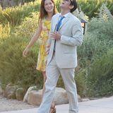 Sieht aus, als hätten Johnny Knoxville und seine Frau Naomi ebenfalls Spaß auf der Hochzeit.