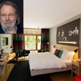 """Berühmte Hotelbesitzer: Am 1. September 2003 eröffnete das """"The Rival Hotel"""" in Stockholm. Besitzer ist ein Viertel von """"Abba"""": Benny Andersson. Das merkt man auch in einigen der 99 Zimmer - am Gruppenbild an der Wand."""