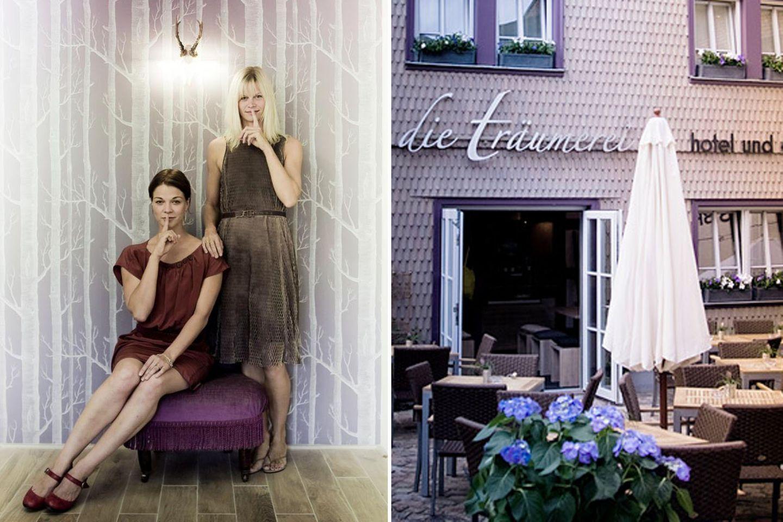 """Berühmte Hotelbesitzer: Die wohl bekannteste deutsche Hotelbesitzerin: Gemeinsam mit ihrer Schwester Sandra betreibt Jessica Schwarz """"die träumerei"""" in ihrem Heimatort Michelstadt."""