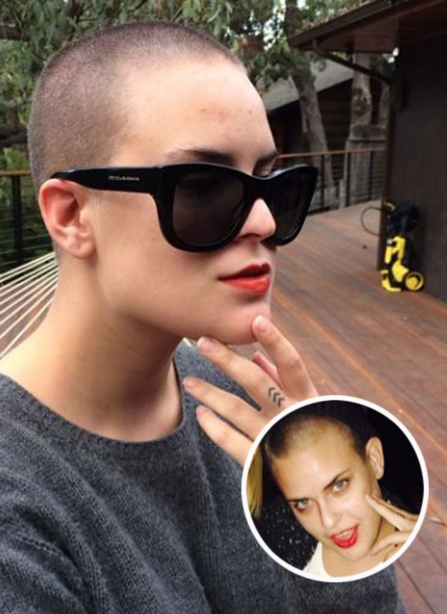Sich glatze rasiert frau Kopfrasur: Haar