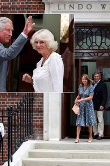 Bevor William und Kate ihren Sohn der Öffentlichkeit präsentieren, statten die Großeltern ihm einen Besuch ab: Erst gehen Michael und Carole Middleton ins Krankenhaus, später schauen Prinz Charles und seine Frau Camilla vorbei.