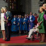Königin Mathilde und König Philippe mit seinen Eltern