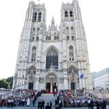 Die Kathedrale St Gudule in Brüssel