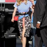Mustermix deluxe: Diane Kruger in einem Outfit von Emanuel Ungaro auf dem Weg ins TV-Studio.
